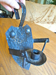 Antique Wrought Iron Candle Holder