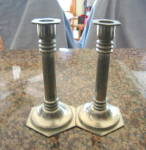 Click here to enlarge image and see more about item candleholders40013: Royal Holland Pewter Candleholders