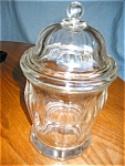 Click here to enlarge image and see more about item candy110510: Vintage Covered Candy Jar
