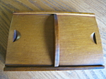 Click here to enlarge image and see more about item cardbox1107: Maple Wood Vintage Card Box