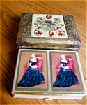 Click here to enlarge image and see more about item cards30609a: Vintage Card Box and Congress Cards