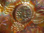 Click to view larger image of Carnival Glass Water Lily Footed Bowl (Image7)