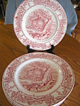 Click here to enlarge image and see more about item ccliff50611: Vintage Royal Staffordshire Plates - Two