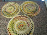 Click here to enlarge image and see more about item chairpads040911: Vintage Chenille Chair Pads