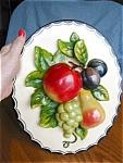 Click here to enlarge image and see more about item chalkware40523: Vintage Chalkware Kitchen Plaque