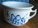Click here to enlarge image and see more about item chamber10527: Antique Blue Bird Chamber Pot