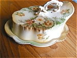 Click to view larger image of Porcelain Butter Dish (Image1)