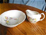 Click here to enlarge image and see more about item china110529: Edwin Knowles Vegetable Bowl and Creamer