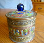 Click here to enlarge image and see more about item chinese040710: Vintage Chinese Brass Jar