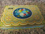 Click here to enlarge image and see more about item chocolatetin2014: Vintage Belgium Chocolate Tin
