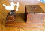 Click here to enlarge image and see more about item cig120509: Vintage Folk Art Cigarette Dispenser