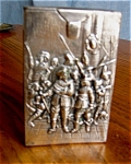 Click here to enlarge image and see more about item cigarette80521: Vintage Silver Repousse Cigarette Case