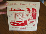 Click here to enlarge image and see more about item clamp50610: Vintage Gunver Corner Clamp