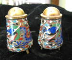 Click here to enlarge image and see more about item cloisonne0512: Antique Cloisonne Shakers