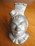 Click here to enlarge image and see more about item clownmold807: Rare antique Clown Ice Cream Mold