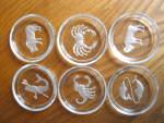 Click to view larger image of Signed Zodiac Intangilo Glass Coasters (Image3)