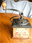 Click here to enlarge image and see more about item coffeemill20624: Coffee Grinder Hand Painted Vintage