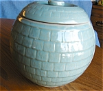Click here to enlarge image and see more about item cookie10527: McCoy Honeycomb Cookie Jar.