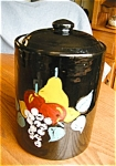 Click here to enlarge image and see more about item cookie50503a: USA Stoneware Cookie Jar Vintage