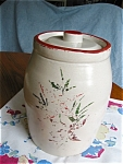 Click here to enlarge image and see more about item cookie60424: Stoneware USA Cookie Jar