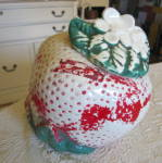 Click to view larger image of American Bisque Sears Strawberry Cookie Jar (Image5)