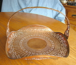 Click here to enlarge image and see more about item copper10713: Patented Copper Manning Bowman Basket