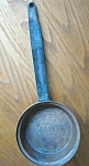 Click here to enlarge image and see more about item copper10714: Vintage Hammered Copper Pan