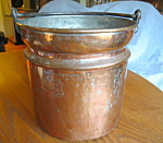 Click here to enlarge image and see more about item copper110808: Vintage Copper Bucket