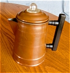 Click here to enlarge image and see more about item copper20626: Vintage Copper Coffeepot