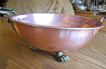 Click here to enlarge image and see more about item copper50720: Vintage English Copper Bowl