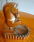 Vintage Copper Horse Bookend Ashtray