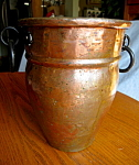 Click here to enlarge image and see more about item copper92508: Vintage Copper Vase