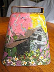 Click here to enlarge image and see more about item cowbell707: Hand Painted Cowbell