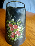 Click here to enlarge image and see more about item cowbell83007: Large Antique Hand Painted Cowbell
