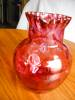 Click to view larger image of Victorian Cranberry Glass Pitcher (Image3)