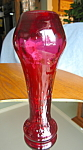 Click here to enlarge image and see more about item cranberry10721: Elegant Antique Cranberry Glass Vase