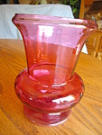 Click here to enlarge image and see more about item cranberry40716: Cranberry Glass Vase