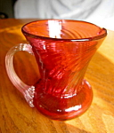 Click here to enlarge image and see more about item cranberry60713: Vintage Cranberry Glass Creamer
