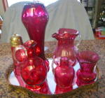 Click to view larger image of Vintage Cranberry Glass Creamer (Image5)