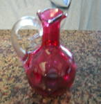Click here to enlarge image and see more about item cranberryglass0512: Vintage Cranberry Glass