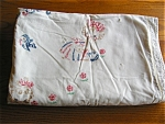 Click here to enlarge image and see more about item crib10521: Vintage Embroidered Crib Blanket