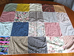 Click here to enlarge image and see more about item cribquilt: Vintage Handmade Crib Quilt