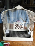Click here to enlarge image and see more about item crowncage20626: Vintage Crown Birdcage