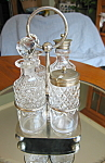 Click here to enlarge image and see more about item cruets10730: Antique Victorian EPNS Cruet Condiment Set