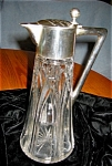Click here to enlarge image and see more about item crys20418a: Antique Crystal Royal Trophy Pitcher