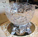 Click here to enlarge image and see more about item crystalbowl0415: Cut Crystal Bowl