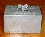 Click here to enlarge image and see more about item cstbut30423: Vintage Patented Cast Aluminum Butter Mold