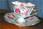 Click here to enlarge image and see more about item cups404103: Royal Halsey Lustre Teacup and Saucer