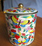Click here to enlarge image and see more about item dahertin110809: Vintage Biscuit Tin Bufferflies Daher