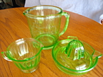 Click here to enlarge image and see more about item depression60510: Green Depression Glass Assortment
